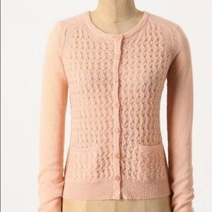 Anthropologie Guinevere light pink cardigan